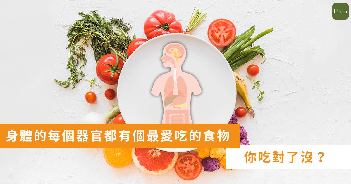 身體的每個器官都有個最愛吃的食物,看你吃對了沒?