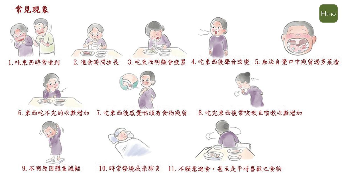 吞嚥困難的長者常見的11大現象