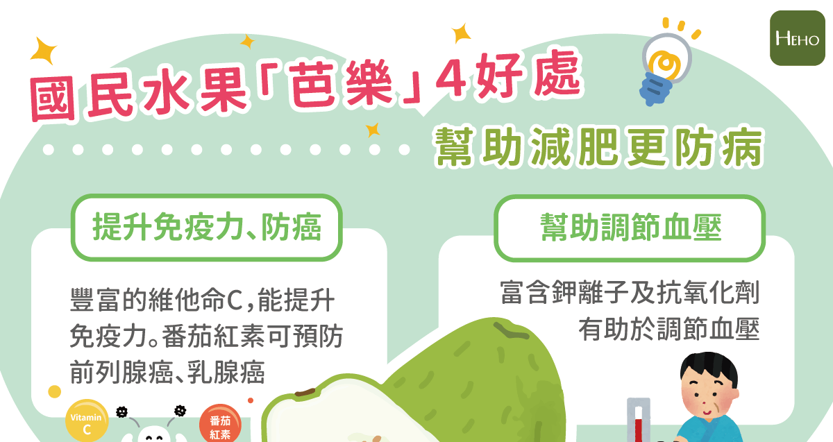 國民水果「芭樂」4好處,幫助減肥更防病 | Heho健康
