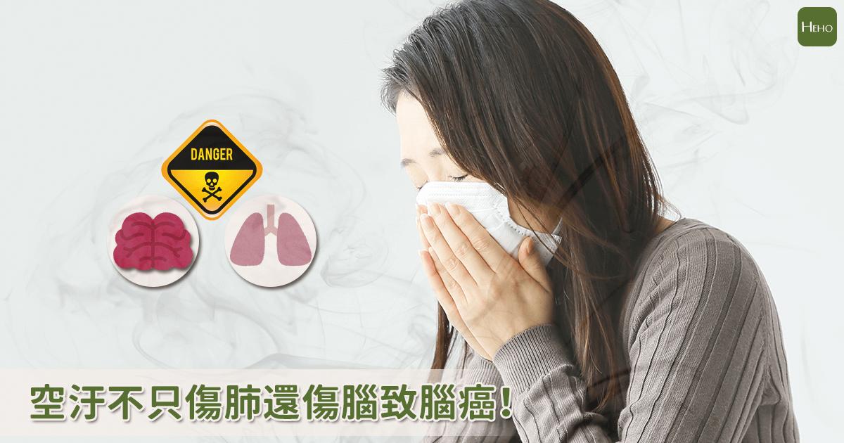 空汙不只傷肺還傷腦!研究:增加2倍腦癌風險