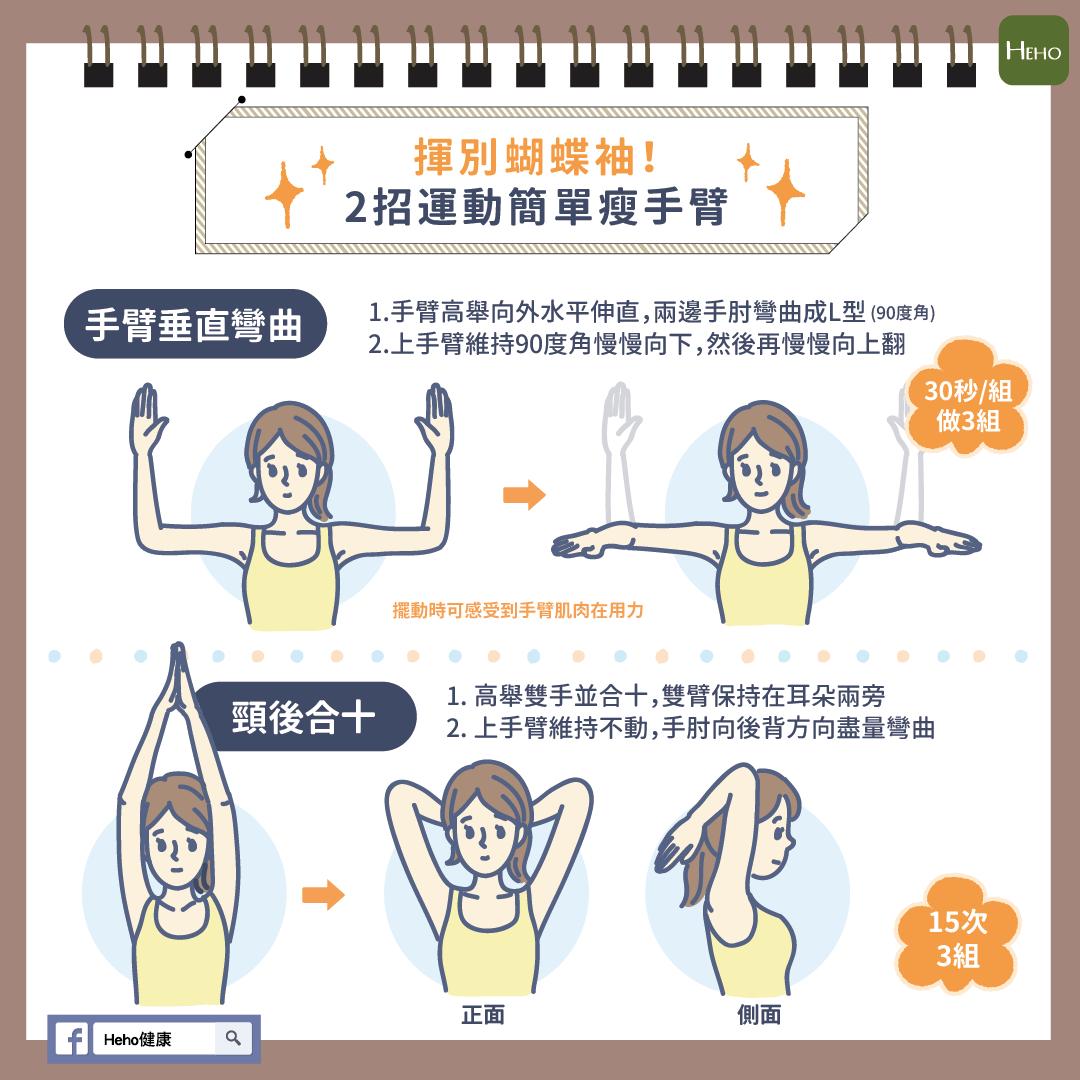 揮別蝴蝶袖!2招運動簡單瘦手臂