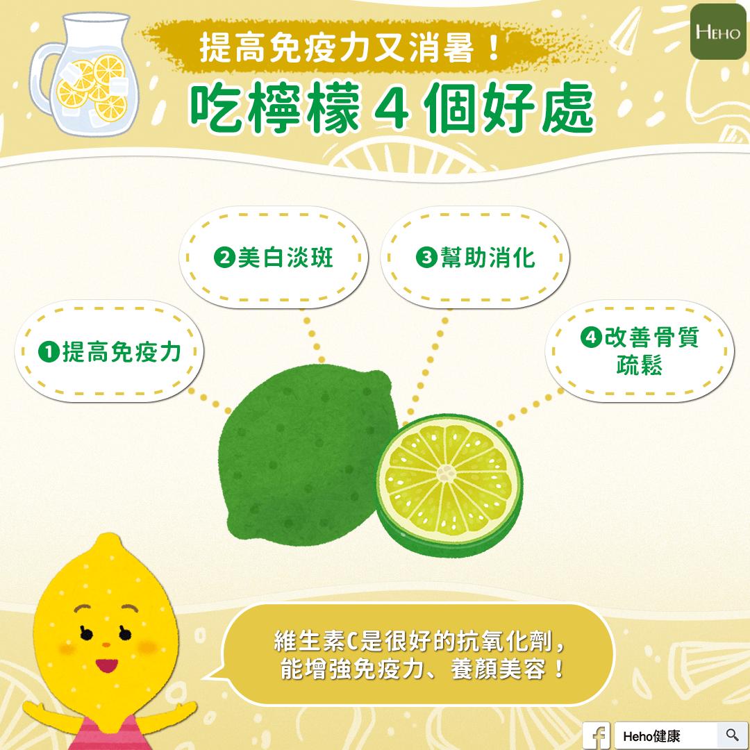 提高免疫力又消暑!吃檸檬4個好處!