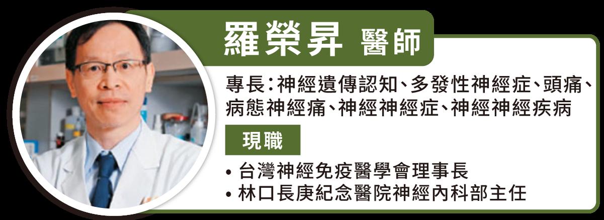 羅榮昇教授表示,泛視神經脊髓炎的治療應以避免復發為目標。